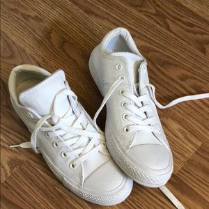 Leather low-top Converse sneakers